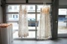 installation view (alpern gallery 2010). dresses hanging